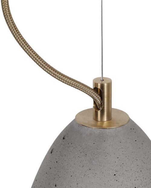 Griestu lampa FEBE M Natural_Brass