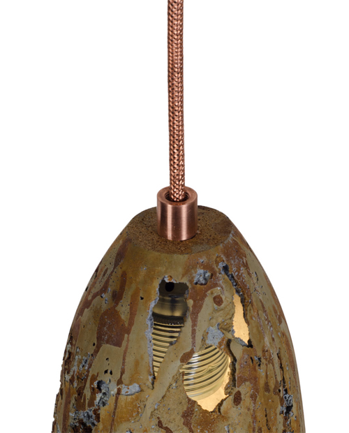 Griestu Lampa FEBE Volcano Rusty Stripe Light_1